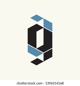 GG monogram.Typographic geometric logo with double letter g.Overlapped shapes.Lettering icon isolated on light background.Alphabet initials sign.Modern, web, corporate style.