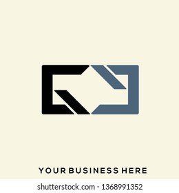 GG monogram.Typographic logo with double letter g isolated on light background.Lettering icon in modern, geometric, corporate style.Uppercase initial shape.