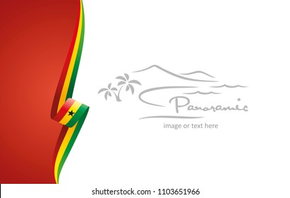 Ghana abstract flag brochure cover poster background vector