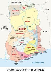 Ghana Map Images Stock Photos Vectors Shutterstock
