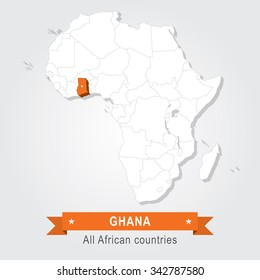 Ghana. All the countries of Africa.