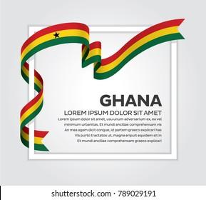 Ghana flag background