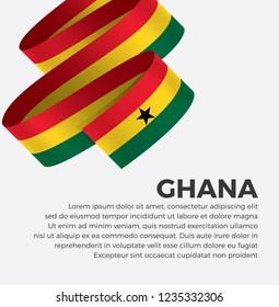 Ghana flag for decorative. Vector background
