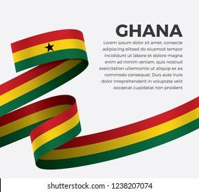 Ghana flag for decorative.Vector background