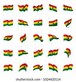 Ghana flag, vector illustration