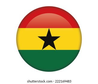 Ghana glossy round button