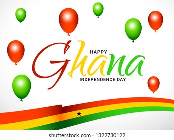 Ghana Independence Day Poster Or Banner Background.