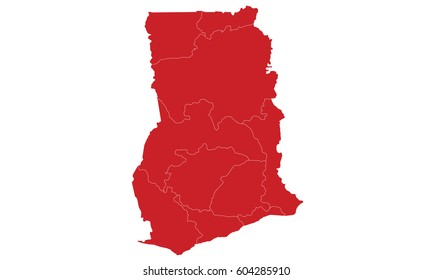 Ghana map red color