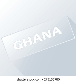 Ghana unique button for any design. Vector illustration