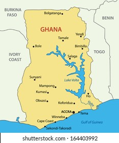 ghana map Images, Stock Photos & Vectors | Shutterstock