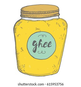 Ghee or Ghi popular food clarified healthy butter
