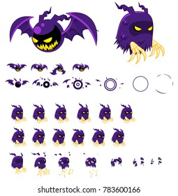 Ghost Animated game characters for halloween video games