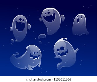 ghost apparition spook horror a friend ghost funny starry sky
