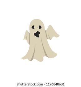 Ghost Cartoon Halloween Character.