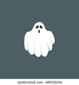 Ghost Cartoon Vector Illustration