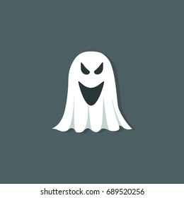 Ghost Cartoon Vector Illustration
