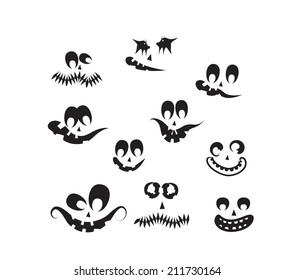 ghost faces, pumpkin faces