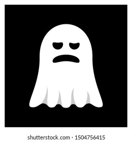 Ghost  for Halloween Design Vector isolated. Happy Halloween Template Illustration