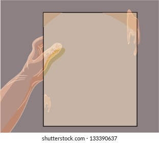 ghost hand holding a piece of paper