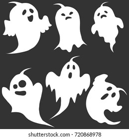 Ghost, the ghost icon, apparition, shadow, darkness, halloween. Flat design, vector illustration, vector.