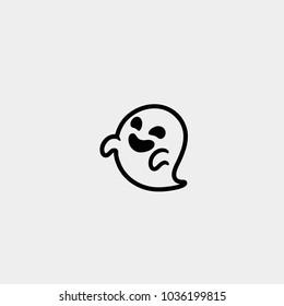 Ghost icon. Vector ghost icon. Ghost symbol. Emoji
