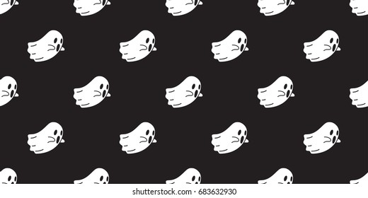 Ghost icons, Halloween seamless pattern wallpaper background