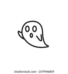 Ghost line icon. Creature, poltergeist, supernatural. Paranormal activity concept. Can be used for topics like Halloween, spirit, horror