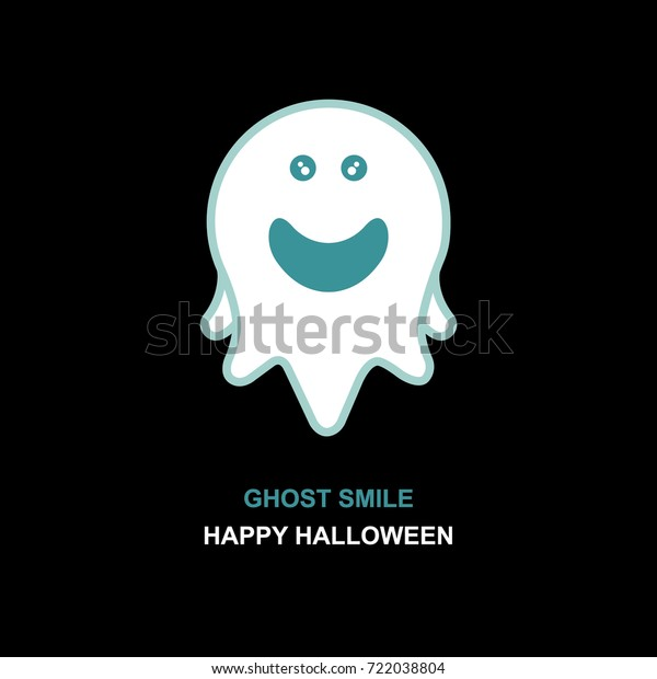Ghost Logo Halloween Design Theme Stock Vector (Royalty Free