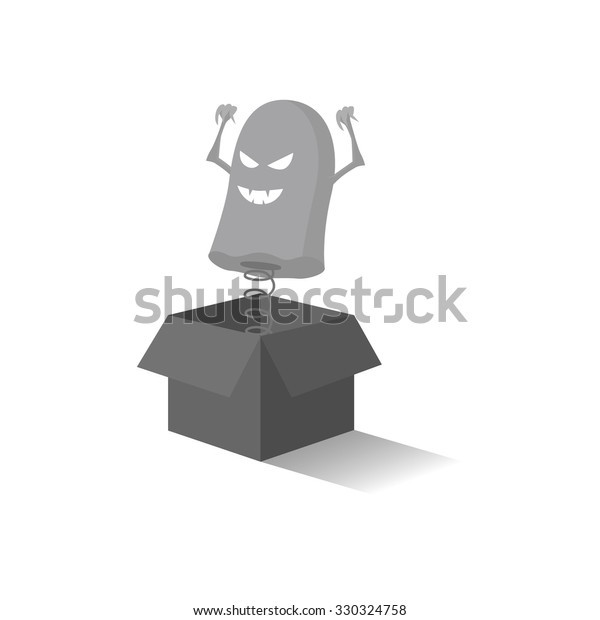 Ghost Out Box 3d Vector Stock Vector (Royalty Free) 330324758
