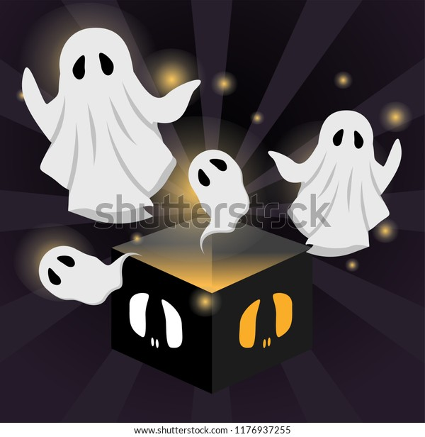 Ghost Popup Haunted Box Stock Vector (Royalty Free) 1176937255