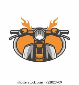 Ghost rider road biker mascot logo vector illustration workshop adventure