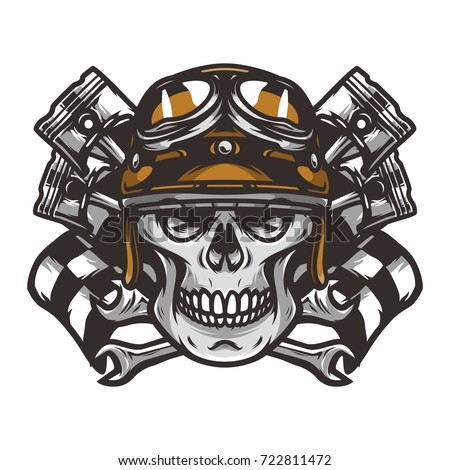 Ghost Rider Road Biker Vector Logo Stock Vector Royalty Free