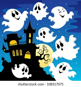 Ghost theme image 2 - vector illustration.