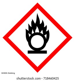 ghs Dangerous icon of hazardous warning sign. Official warning sign of Global healthy sign of oxidizing