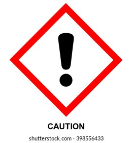 GHS hazard pictogram - CAUTION , health hazard warning sign , isolated vector illustration