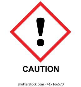 GHS hazard pictogram caution. Vector illustration