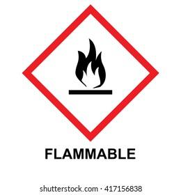 GHS hazard pictogram flammable