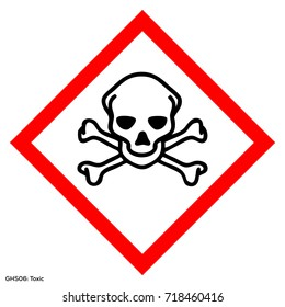 ghs Hazardous warning. Warning sign. Official warning sign. Global healthy sign of toxic