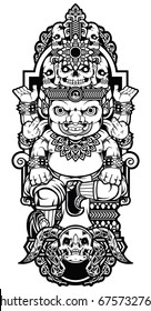 Giant Baby, Thailand Art, Vector Design, Tattoo Thailand, Drawing Giant, Poster Giant Thailand, Old Poster, Background Black Color