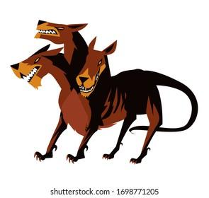 giant cerberus underworld mythology three heads dog