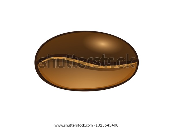 Giant Coffee Bean Vector Illustrator Stock Vector Royalty