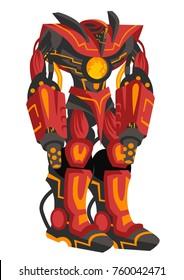 giant flamethrower robot