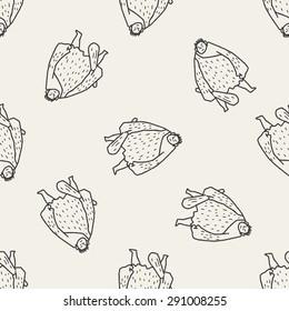 giant ogre doodle seamless pattern background