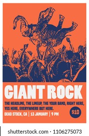 Giant Rock Poster Flyer Template