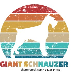 Giant Schnauzer silhouette vintage and retro