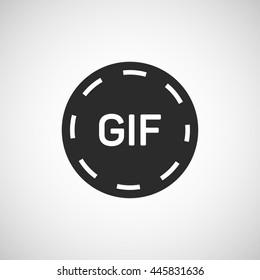 gif animation button icon