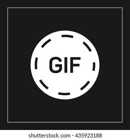 gif animation button icon. gif animation button sign