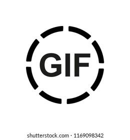 GIF Circle Icon Vector