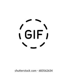 gif circle line icon