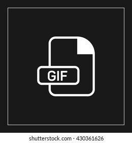 gif file format icon. gif file extension  vector illustration